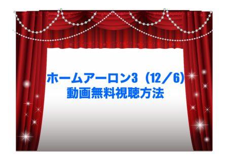 ホームアーロン3 映画 見逃し 動画無料視聴方法 U-NEXT